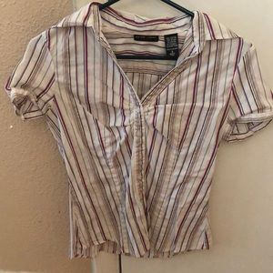 Striped Button Down Blouse Size S